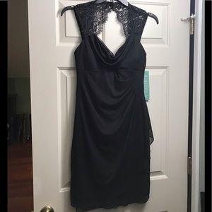 Scarlett Spec. Occasion Black Dress w/Lace Overlay